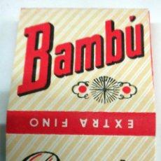 Papel de fumar: PAPEL DE FUMAR BAMBU , ANTIGUO , ALCOY ALICANTE , ORIGINAL . Lote 85633552