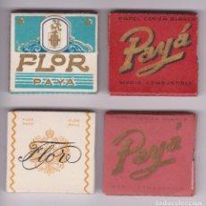Papel de fumar: PAPEL DE FUMAR FLOR PAYA Y PAYA. S.A. PAYA MIRALLES. VALENCIA 4 UNIDADES. MUY BUENA CONSERVACIÓN. Lote 86318984