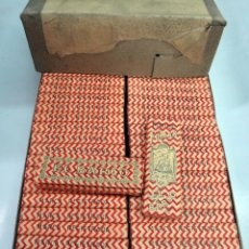 Papel de fumar: PAPEL DE FUMAR BARCO , ALCOY ALICANTE , CAJA CON 100 PAQUETES , ANTIGUOS, ORIGINALES. Lote 88359083