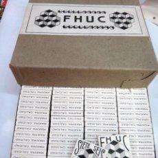 Papel de fumar: PAPEL DE FUMAR FHUC SIETE SEIS , ALCOY ALICANTE , CAJA CON 100 PAQUETES , ANTIGUOS, ORIGINALES. Lote 86375412