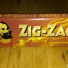 Papel de fumar: PAPEL DE FUMAR ZIG-ZAG LIQUORICE. Lote 86451266
