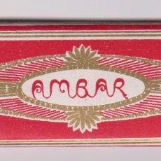 Papel de fumar: PAPEL DE FUMAR AMBAR. PERFECTO ESTADO. FABRIC. JOSE LAPORTA. ALCOY.. Lote 87182472