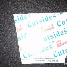 Papel de fumar: PAPEL DE FUMAR CHERNIAK CUTSIDES. PERFECTO ESTADO. FABRICADO EN ALCOY. Lote 87184544