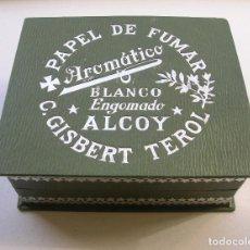 Papel de fumar: CAJA ( VACIA ) PARA 10 LIBRITOS DE PAPEL DE FUMAR.C.GISBERT TEROL.ALCOY.EXCELENTE CONSERVACIÓN.. Lote 87208780