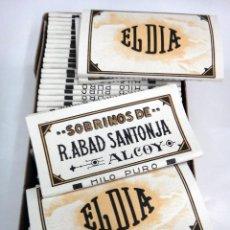Papel de fumar: PAPEL DE FUMAR EL DIA , ALCOY ALICANTE , CAJA CON 50 PAPELES , ANTIGUOS, ORIGINALES. Lote 88156312