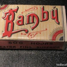 Papel de fumar: PAPEL DE FUMAR BAMBU 500 HOJAS AÑOS 20 ALCOY RESELLO VARIANTE 4. Lote 88166000