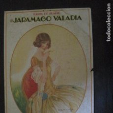 Papel de fumar: PAPEL DE FUMAR JARAMAGO VALADIA-CARTEL CARTON 33 X 48 CM-ILUSTRADO POR CERVELLO-VER FOTOS-(V-11.753). Lote 91120615