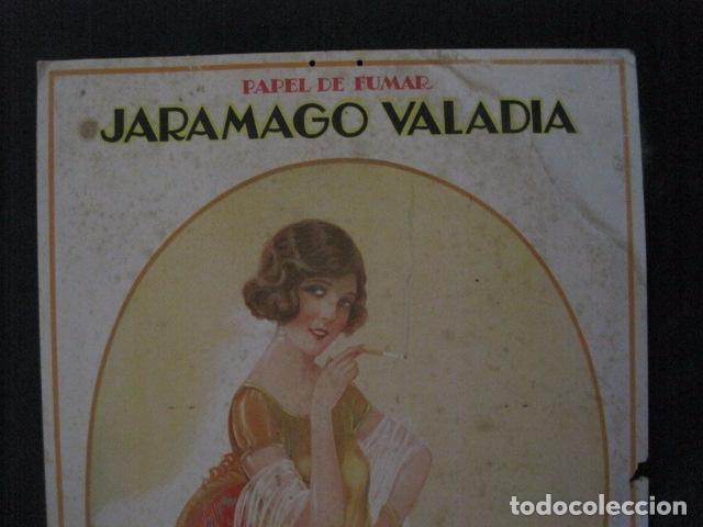 Papel de fumar: PAPEL DE FUMAR JARAMAGO VALADIA-CARTEL CARTON 33 X 48 CM-ILUSTRADO POR CERVELLO-VER FOTOS-(V-11.753) - Foto 2 - 91120615