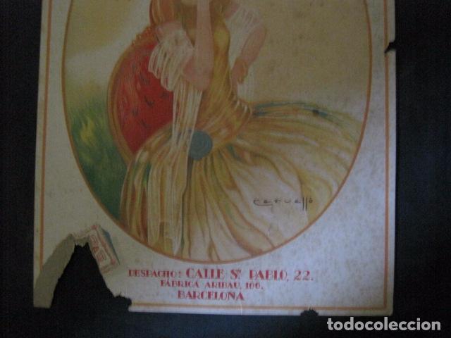 Papel de fumar: PAPEL DE FUMAR JARAMAGO VALADIA-CARTEL CARTON 33 X 48 CM-ILUSTRADO POR CERVELLO-VER FOTOS-(V-11.753) - Foto 3 - 91120615