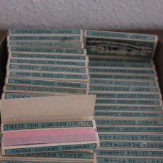 Papel de fumar: 76 LIBRILLOS DE ANTIGUO PAPEL DE FUMAR, MARCA CANOA. Lote 92292125