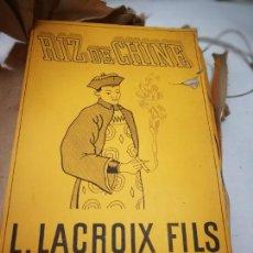 Papel de fumar: PAPEL DE FUMAR. RIZ DE CHINE N°2.CAJA DE 100 LIBRILLO. 1937.. Lote 94381695
