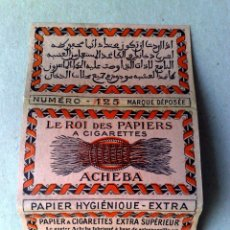 Papel de fumar: LIBRITO PAPEL DE FUMAR EXTRA-ACHEBA Nº125,ZADEK MAHFOUD,ALGER,SIN USAR. Lote 95927567