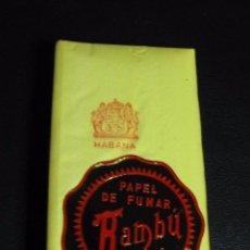 Papel de fumar: PAPEL DE FUMAR BAMBU RESELLO HABANA. Lote 102501619