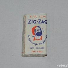 Papel de fumar: PAPEL DE FUMAR BLOC LUJO ZIG ZAG , VALLADOLID , SEÑALES DE USO. Lote 97195523