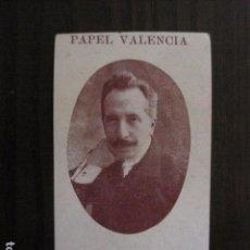 Papel de fumar: PAPEL DE FUMAR VALENCIA - CROMO - (V-12.250). Lote 100330547