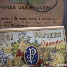 Papel de fumar: PAPEL DE FUMAR CROMOLITOGRAFICO DE LA MARCA SHAKERS, 100 HOJAS FINALES DE SIGLO XIX. Lote 152705686