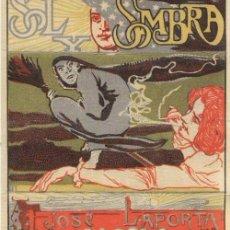 Papel de fumar: PAPEL DE FUMAR SOL Y SOMBRA. JOSÉ LAPORTA. ALCOY 1900,S SERIE 1 ª Nº3 PERFECTO ESTADO. Lote 110842643