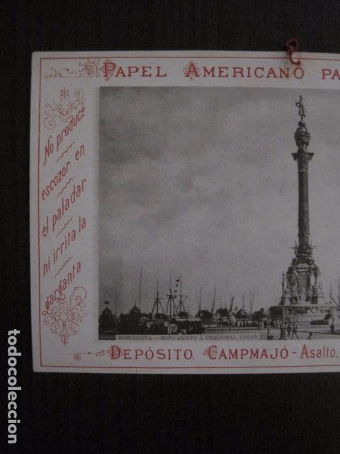 Papel de fumar: PAPEL DE FUMAR AMERICANO PARA CIGARRILLOS-CAMPMAJO-BARCELONA -PEQUEÑO CARTEL- VER FOTOS - (V-12.750) - Foto 2 - 104391727