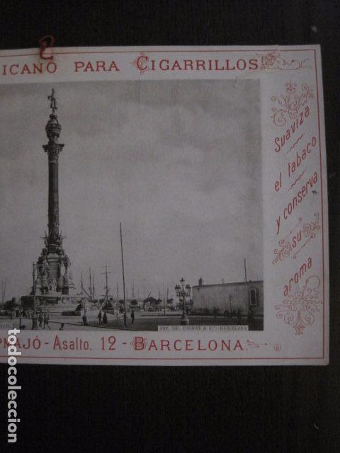 Papel de fumar: PAPEL DE FUMAR AMERICANO PARA CIGARRILLOS-CAMPMAJO-BARCELONA -PEQUEÑO CARTEL- VER FOTOS - (V-12.750) - Foto 3 - 104391727