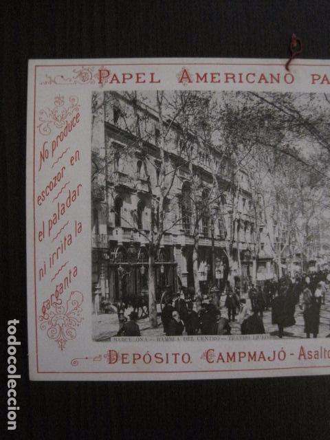 Papel de fumar: PAPEL DE FUMAR AMERICANO PARA CIGARRILLOS-CAMPMAJO-BARCELONA -PEQUEÑO CARTEL- VER FOTOS - (V-12.751) - Foto 2 - 104391883