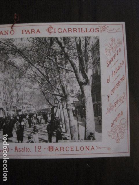 Papel de fumar: PAPEL DE FUMAR AMERICANO PARA CIGARRILLOS-CAMPMAJO-BARCELONA -PEQUEÑO CARTEL- VER FOTOS - (V-12.751) - Foto 3 - 104391883
