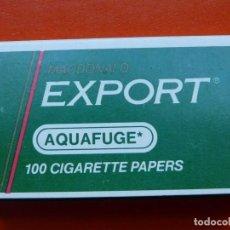 Papel de fumar: ANTIGUO PAPEL DE FUMAR EXPORT AQUAFUGE. Lote 105477019