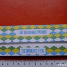 Papel de fumar: PAPEL DE FUMAR HIGHLAND PAPERS SCOTLAND GRAN FORMATO. Lote 107113119