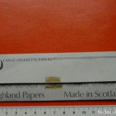 Papel de fumar: ANTIGUO PAPEL DE FUMAR HIGHLAND PAPERS SCOTLAND. Lote 107113587