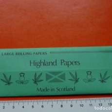 Papel de fumar: PAPEL DE FUMAR HIGHLAND PAPERS SCOTLAND. Lote 107114099