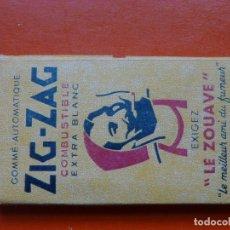 Papel de fumar: ANTIGUO PAPEL DE FUMAR ZIG ZAG - LE ZOUAVE. Lote 107218963