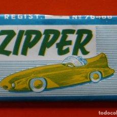 Papel de fumar: ANTIGUO PAPEL DE FUMAR ZIPPER. Lote 107585883