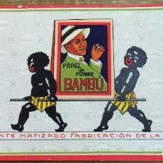 Papel de fumar: SECANTE DE PAPEL DE FUMAR BAMBU, ANTIGO ORIGINAL , AÑOS 1930 ,RB. Lote 108009319