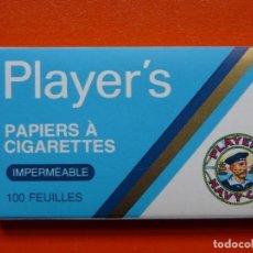 Papel de fumar: ANTIGUO PAPEL DE FUMAR PLAYER´S IMPERMEABLE. Lote 108262891
