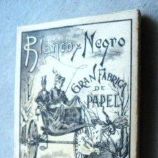 Papel de fumar: LIBRITO PAPEL DE FUMAR BLANCO Y NEGRO DOBLE. LAPORTA VALOR ALCOY INMEJORABLE ESTADO. Lote 109393039