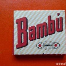 Papel de fumar: ANTIGUO PAPEL DE FUMAR BAMBU. Lote 110973835