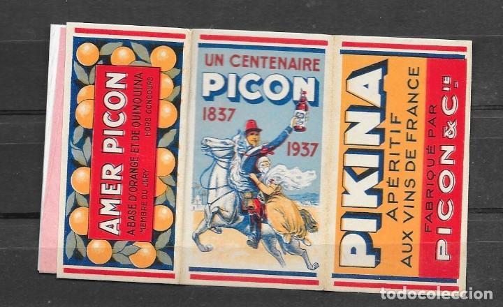 Papel de fumar: Librillo de papel de fumar - Picon - Francia 1937 - Foto 3 - 112476319