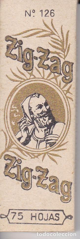 LIBRITO DE PAPEL DE FUMAR ZIG-ZAG DE 75 HOJAS Nº126 (RARO) (Coleccionismo - Objetos para Fumar - Papel de fumar )