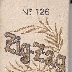 Papel de fumar: LIBRITO DE PAPEL DE FUMAR ZIG-ZAG DE 75 HOJAS Nº126 (RARO). Lote 116086531