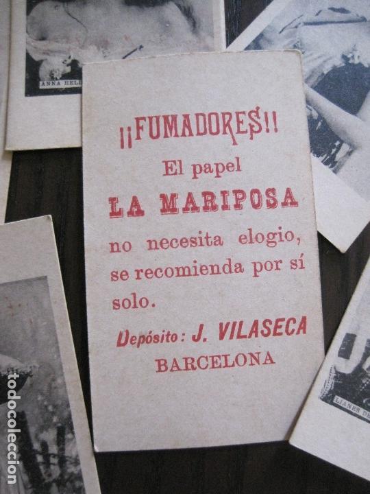 Papel de fumar: LOTE 18 CROMOS ANTIGUOS - PAPEL DE FUMAR - LA MARIPOSA - J.VILASECA -VER FOTOS -(V-14.168) - Foto 4 - 117947755