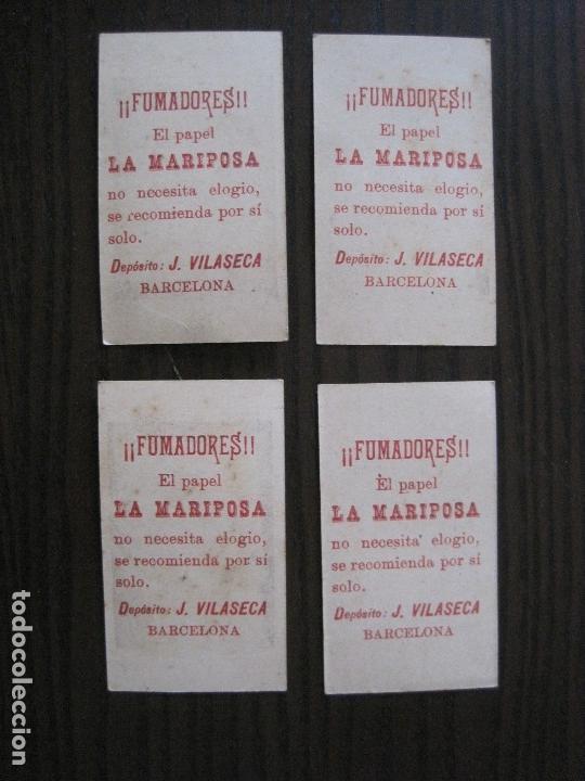 Papel de fumar: LOTE 18 CROMOS ANTIGUOS - PAPEL DE FUMAR - LA MARIPOSA - J.VILASECA -VER FOTOS -(V-14.168) - Foto 6 - 117947755