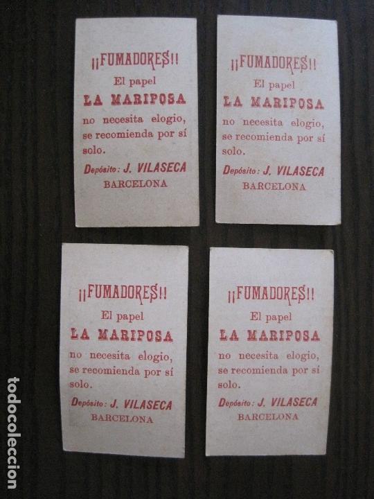 Papel de fumar: LOTE 18 CROMOS ANTIGUOS - PAPEL DE FUMAR - LA MARIPOSA - J.VILASECA -VER FOTOS -(V-14.168) - Foto 8 - 117947755