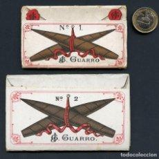 Papel de fumar: LIBRITO, PAPEL DE FUMAR, J. G. GUARRO, Nº 1 Y Nº 2, BARCELONA. Lote 118798987
