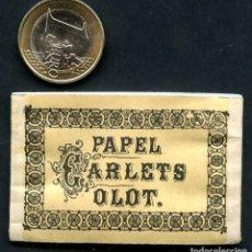 Papel de fumar: LIBRITO, PAPEL DE FUMAR, PAPEL CARLETS, OLOT. Lote 118805683