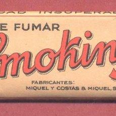 Papel de fumar: PAPEL DE FUMAR , SMOKING, COMPLETO, SIN USAR, VER FOTOS. Lote 122251299