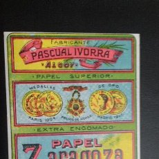 Papel de fumar: CARATULA DE PAPEL DE FUMAR ZARAGOZA. Lote 122580831