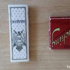 Papel de fumar: LOTE DE 2 ANTIGUOS LIBRILLOS CON PAPEL DE FUMAR. . Lote 128108783