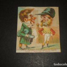 Papel de fumar: CROMO PAPEL DE FUMAR SIGLO XIX. Lote 128129551