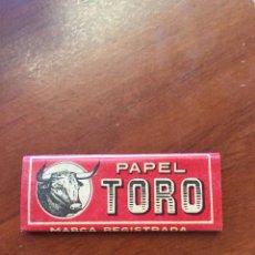 Papel de fumar: LIBRITO DE PAPEL DE FUMAR - EL TORO - HIJO DE C. GISBERT TEROL - ALCOY. Lote 128894719
