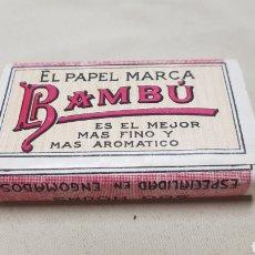 Papel de fumar: PAQUETE DE PAPEL DE FUMAR, 500 HOJAS , BAMBU , EXTRA FINO SUPERIOR. Lote 129416291