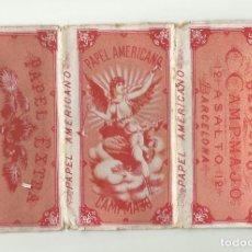 Papel de fumar: PAPEL DE FUMAR PAPEL AMERICANO MARRÓN C. CAMPMAJO BARCELONA 1900'S NUEVO. Lote 129975467